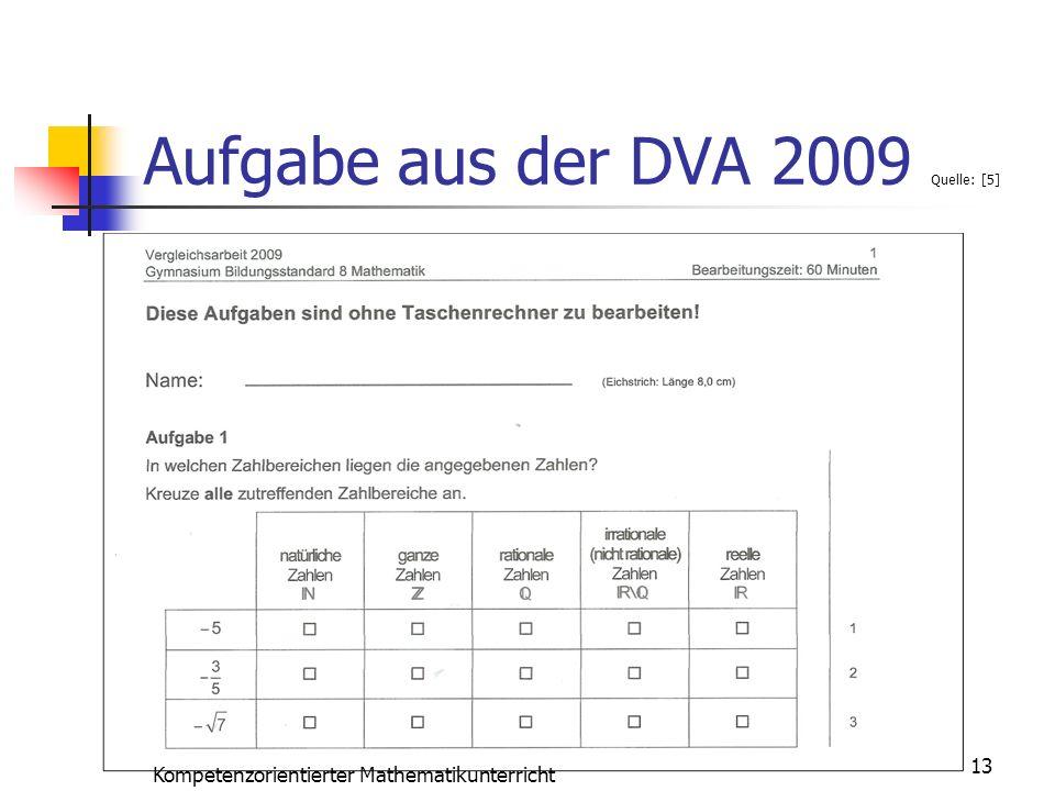 Aufgabe aus der DVA 2009 Quelle: [5]